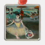 Edgar Degas | Dancer with bouquet, curtseying Silver-Colored Square Decoration