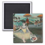 Edgar Degas | Dancer with bouquet, curtseying Square Magnet