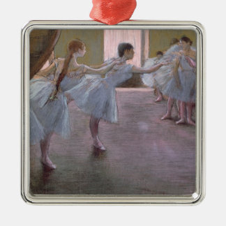 Edgar Degas   Dancers at Rehearsal, 1875-1877 Silver-Colored Square Decoration