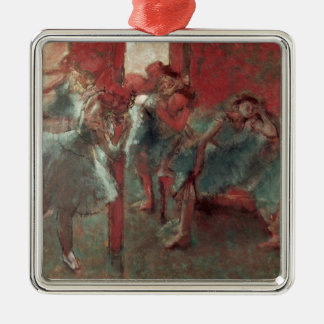 Edgar Degas | Dancers at Rehearsal, 1895-98 Silver-Colored Square Decoration