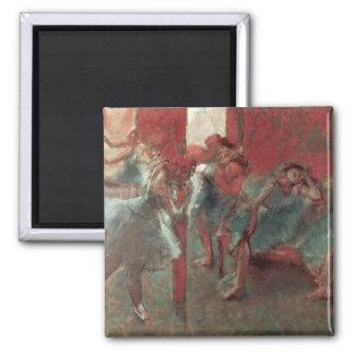 Edgar Degas | Dancers at Rehearsal, 1895-98 Square Magnet
