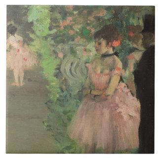 Edgar Degas | Dancers Backstage, 1876-1883 Large Square Tile
