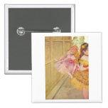 Edgar Degas - Dancers behind Backdrop 1880 pastel Pinback Button
