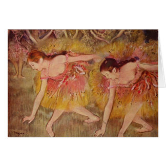 Edgar Degas Dancers Bending Down Card