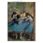 Edgar Degas   Dancers in blue, 1890 Card