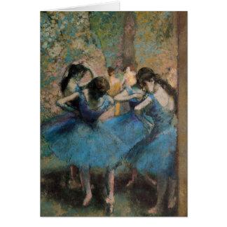 Edgar Degas | Dancers in blue, 1890 Card