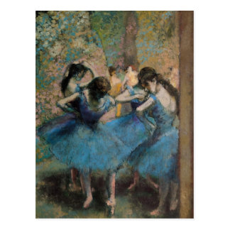 Edgar Degas | Dancers in blue, 1890 Postcard
