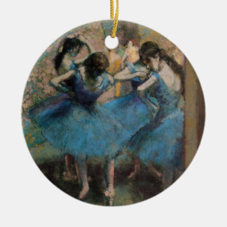 Edgar Degas | Dancers in blue, 1890 Round Ceramic Decoration
