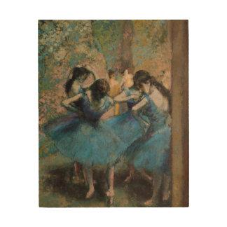 Edgar Degas   Dancers in blue, 1890 Wood Print