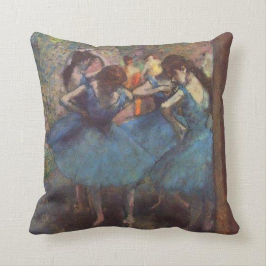 Edgar Degas Dancers In Blue(1895) Throw Pillow