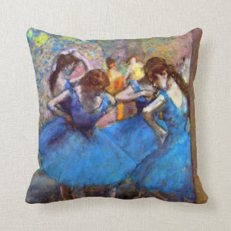 Edgar Degas - Dancers In Blue - Ballet Dance Lover Cushion
