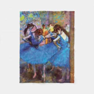 Edgar Degas - Dancers In Blue - Ballet Dance Lover Fleece Blanket