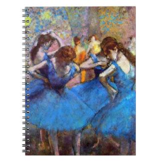 Edgar Degas - Dancers In Blue - Ballet Dance Lover Notebook
