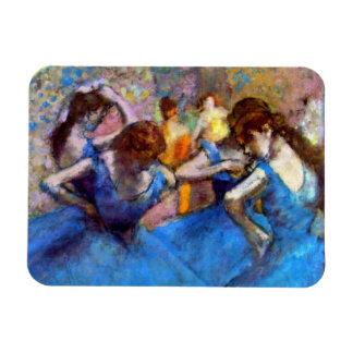 Edgar Degas - Dancers In Blue - Ballet Dance Lover Rectangular Photo Magnet