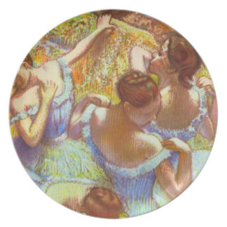 Edgar Degas - Dancers in blue Plates