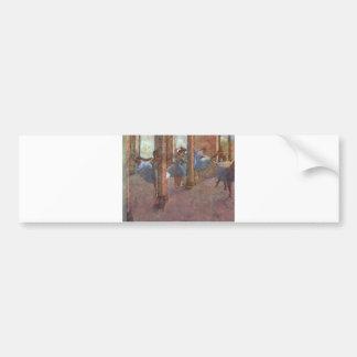 Edgar Degas - Dancers in Foyer 1887-90 ballerina Bumper Sticker
