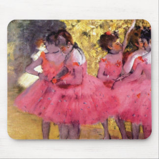Edgar Degas - Dancers in Pink - Ballet Dance Lover Mouse Pad