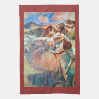 Edgar Degas - Dancers in the landscape Hand Towel
