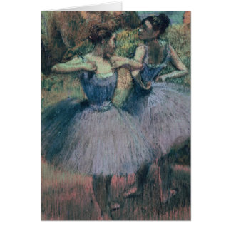 Edgar Degas | Dancers in Violet Card