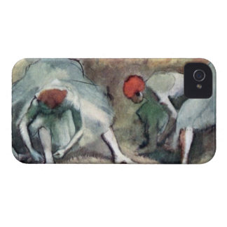 Edgar Degas - Dancers lace their shoes Case-Mate iPhone 4 Case