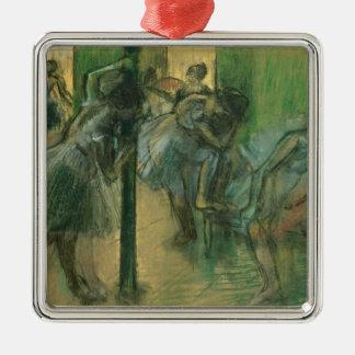 Edgar Degas | Dancers rehearsing Silver-Colored Square Decoration