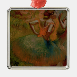 Edgar Degas | Dancers Wearing Green Skirts Silver-Colored Square Decoration