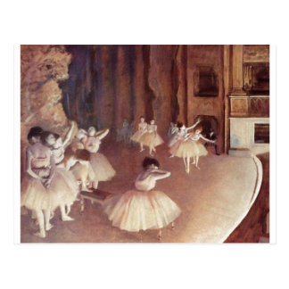 Edgar Degas - Dress Rehearsal Ballet Stage 1873-74 Postcard