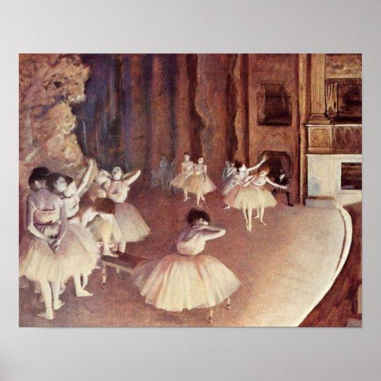 Edgar Degas - Dress rehearsal of ballet stage Poster