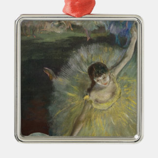 Edgar Degas | End of an Arabesque, 1877 Silver-Colored Square Decoration