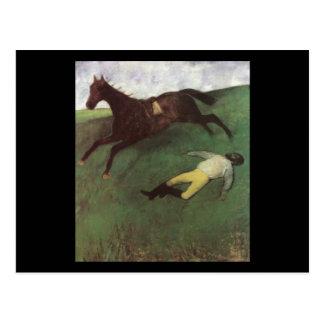 Edgar Degas Fallen Jockey Postcard