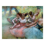 Edgar Degas | Four ballerinas on the stage Poster