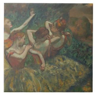 Edgar Degas - Four Dancers Large Square Tile