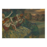Edgar Degas - Four Dancers Poster