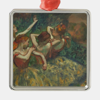 Edgar Degas | Four Seasons in the One Head, c.1590 Silver-Colored Square Decoration