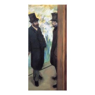 Edgar Degas Friends at the Theatre Rack Card Design