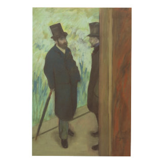 Edgar Degas | Friends at the Theatre Wood Wall Art