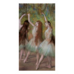 Edgar Degas Green Dancers Poster