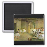 Edgar Degas - Hall of the Opera Ballet in the Rue Square Magnet