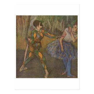 Edgar Degas - Harlequin & Colombine 1884 Post Card