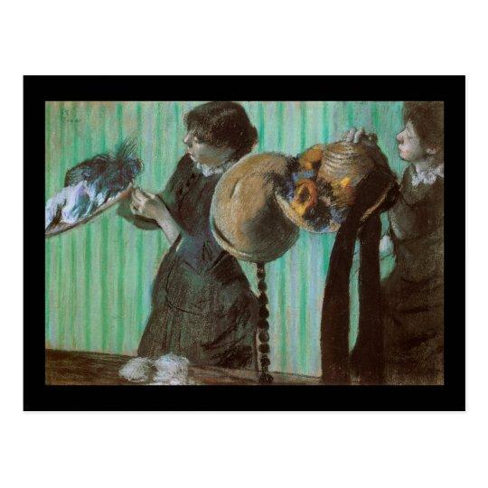 Edgar Degas Hat Shop Postcard