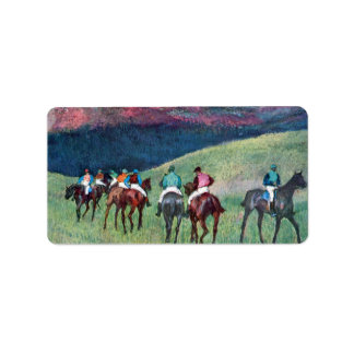 Edgar Degas - Horse racing -The training Address Label