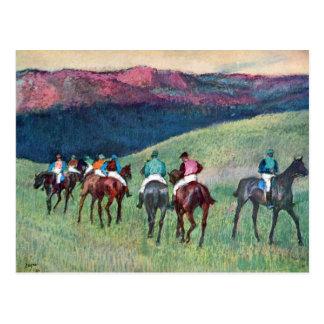 Edgar Degas - Horse racing -The training Post Card