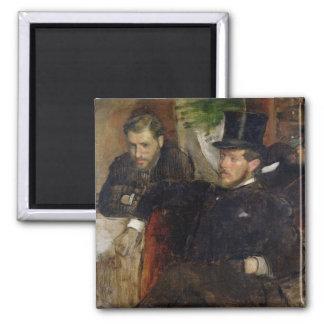 Edgar Degas   Jeantaud, Linet and Laine, 1871 Square Magnet
