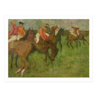 Edgar Degas   Jockeys, 1886-90 Postcard