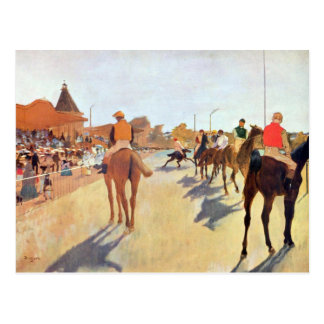 Edgar Degas - Jockeys in front of the grandstand Postcard