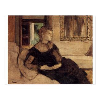 Edgar Degas - Madame Théodore Gobillard 1869 oil Postcard