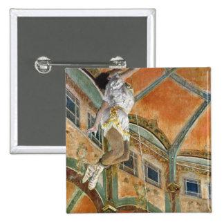 Edgar Degas | Miss La la at the Cirque Fernando 15 Cm Square Badge