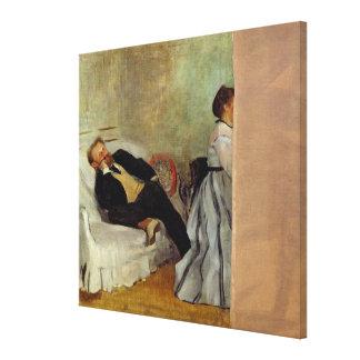 Edgar Degas | Monsieur and Madame Edouard Manet Canvas Print