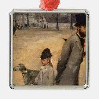 Edgar Degas | Place de la Concorde, 1875 Silver-Colored Square Decoration