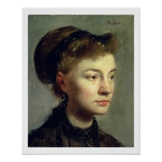Edgar Degas | Portrait of a young woman, 1867 Poster